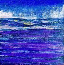 Blau, Landschaft, Lavendel, Malerei