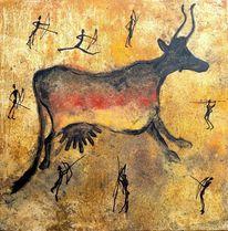 Malerei, Humor, Höhlenmalerei, Erdfarben