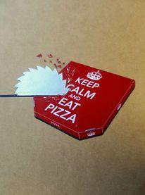 Pizza, Schachtel, Fräse, Kartonschachtel