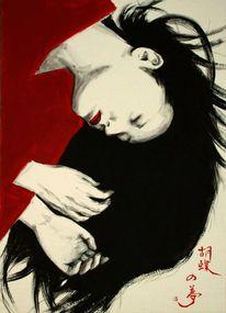 Tusch malerei, Japanische kunst, Fantasie, Malerei