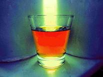 Mandellikör, Bittermandel, Amaretto liquor, Amaretto im glas