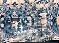Bucht art brut, Hafen, Digitale kunst,