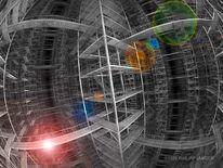 Weitwinkelansicht, Konstruktion, Labyrinth, Grau