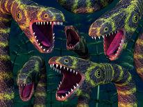 Reptil, Bedrohung, Räuber, Zähne