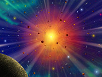 Explosion, Sternhaufen, Wolken, Ionisation