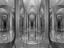 Labyrinth, Architektur, Illusion, Wasser