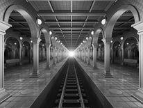 Symmetrie, Unendlichkeit, Rundbögen, Gleis