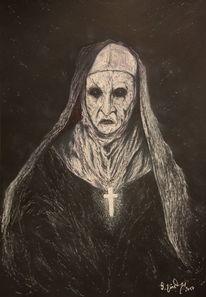 Priestes, Nonne, Kruzifix, Hexe