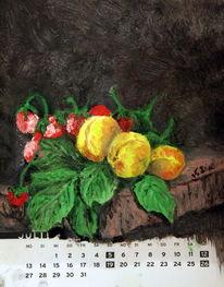 Pfirsich, Stillleben, Erdbeeren, Alte meister