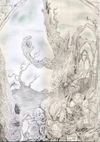 Gotik, Baum, Horror, Paradies