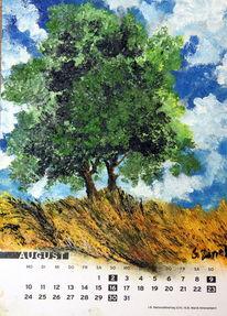 Ernet, Sommer, Gras, Baum