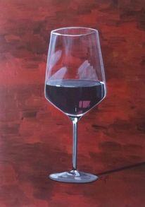 Rotwein, Glas, Wein, Spiegelung