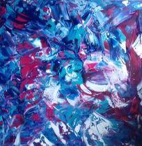 Lila, Blau, Türkis, Malerei