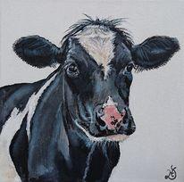 Holsteiner, Kuh, Malerei,