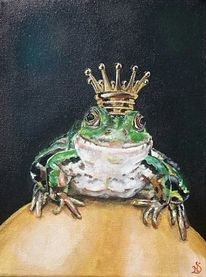 Frosch, Krone, Malerei