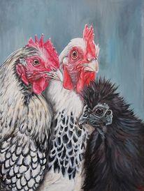 Huhn, Seidenhuhn, Malerei