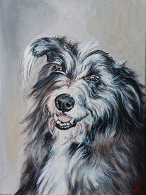 Hund, Portrait, Hundekopf, Malerei