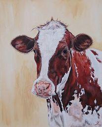 Holsteiner, Milchkuh, Kuh, Malerei