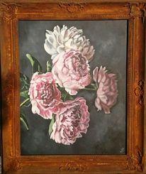 Blumen, Stillleben, Pfingstrosen, Malerei