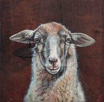 Schaf, Bauernhof, Landleben, Malerei