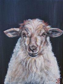 Schaf, Lamm, Malerei,