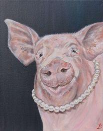 Perlenkette, Sau, Schwein, Bauernhof