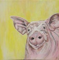 Schwein, Sonne, Schweinsnase, Malerei