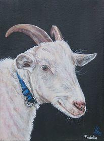 Ziegen, Bauernhoftiere, Zicklein, Malerei
