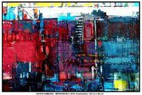 Malerei, Rot schwarz, Acrylmalerei, Reinbek