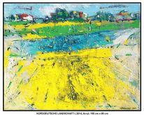 Gelb, Horizont, Feld, Grün