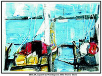 Acrylmalerei, Welle, Figur, Bordwand