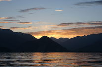 Lago maggiore, Berge, See, Sonnenuntergang