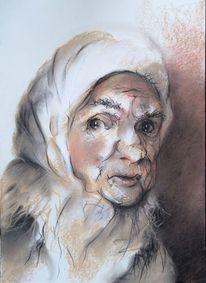 Schatten, Menschen, Zeichnung, Portrait in pastell