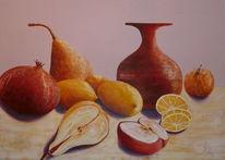 Gelb, Apfel, Marille, Stillleben