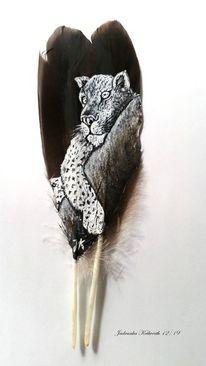 Gepard, Baum, Tiere, Malerei