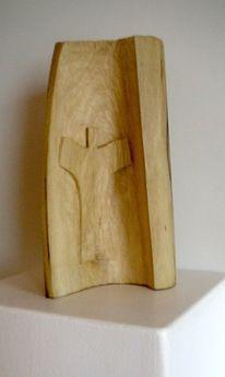 Abstrakte kunst, Holzskulptur, Plastiken, Moderne kunst