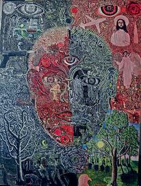 Depression, Bipolar, Portrait, Gesicht