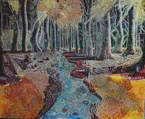 Märchenwald, Fluss, Mystik, Herbstwald