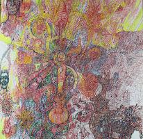 Psychedelisch, Abstrakte kunst, Tuschmalerei, Tusche auf papier