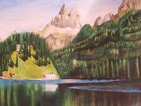 Berge, Wald, Grün, Landschaft