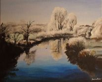 Ems, Fluss, Winter, Frost