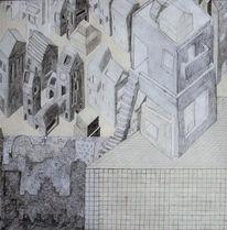 Unten, Oben, Gebäude, Zeichnungen
