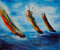 Regatta, Meer, Segel, Malerei