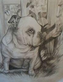 Hund garten, Malerei