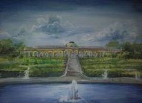 Acrylmalerei, Potsdam, Stadtansichten, Malerei