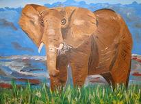 Dickhäuter, Afrika, Tiere, Afrikanischer elefant