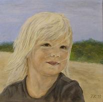 Acrylmalerei, Portrait, Mädchen, Kind