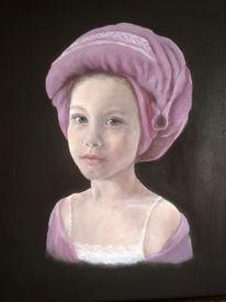 Ölmalerei, Mädchen, Turban, Portrait