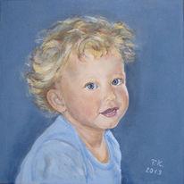 Acrylmalerei, Kleinkind, Junge, Portrait