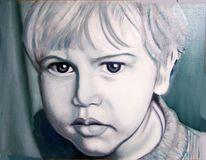 Kind, Mann, Portrait, Menschen